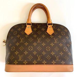 LOUIS VUITTON LV Alma Monogram PM Leather Bag